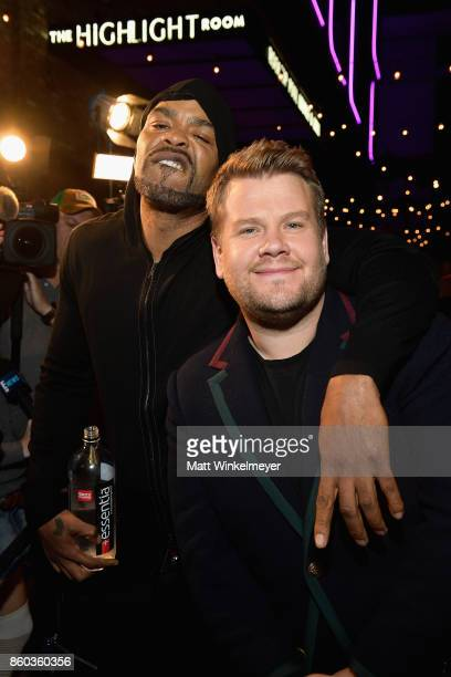 Host Method Man and executive producer James Corden at TBS' Drop the Mic and The Joker's Wild Premiere Party at Dream Hotel on October 11 2017 in...