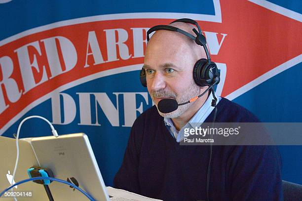 Host Michael Smerconish at SiriusXM Red Diner Broadcasts from New Hampshire Primary Coverage Live on February 9 2016 in Manchester New Hampshire