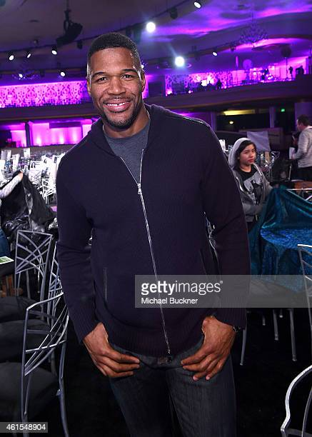 Host Michael Strahan attends the 20th Annual Critics' Choice Movie Awards at the Hollywood Palladium on January 14 2015 in Los Angeles California