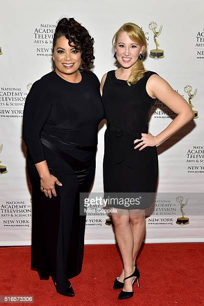 TV host Michaela Pereira attends the 59th annual New York Emmy Awards at Marriott Marquis Times Square on March 19 2016 in New York City