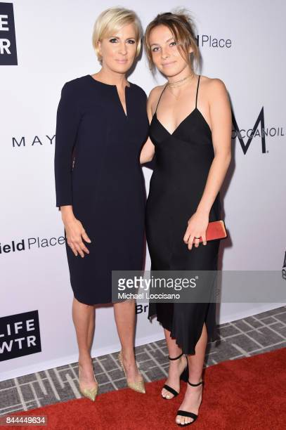 MSNBC host Mika Brzezinski and her daughter attend the Daily Front Row's Fashion Media Awards at Four Seasons Hotel New York Downtown on September 8...