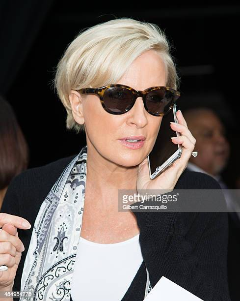 TV host Mika Brzezinski is seen at Tracy Reese fashion show during MercedesBenz Fashion Week Spring 2015 at Art Beam on September 7 2014 in New York...