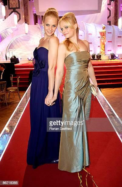 TV host Mirjam Weichselbraun and sister Melanie Binder attend the '20th Romy Award' at the Hofburg on April 25 2009 in Vienna Austria