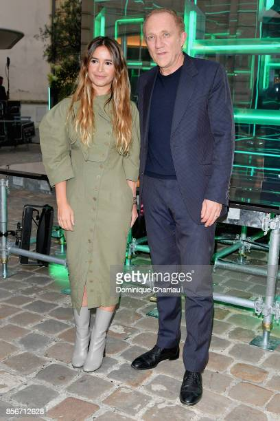 Host Miroslava Duma and FrancoisHenri Pinault attend the Fashion Tech Lab Launch Event Hosted By Miroslova Duma And Stella McCartney as part of Paris...