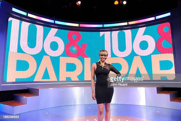 Host Miss Mykie at BET's 106 Park at BET Studios on April 8 2013 in New York City
