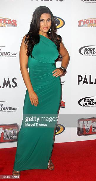 TV host Molly Qerim attends the 2011 Fighters Only Mixed Martial Arts Awards at Palms Hotel and Casino on November 30 2011 in Las Vegas Nevada