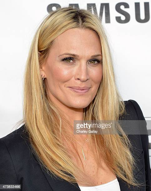 Host Molly Sims attends Samsung Home Appliances Hosts Billboard Music Awards Viewing Party at the London Hotel on May 17 2015 in Los Angeles...