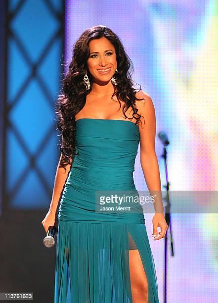 Host Monica Noguera during El Premio de la Gente Latin Music Fan Awards 2005 Show at The Forum in Los Angeles California United States