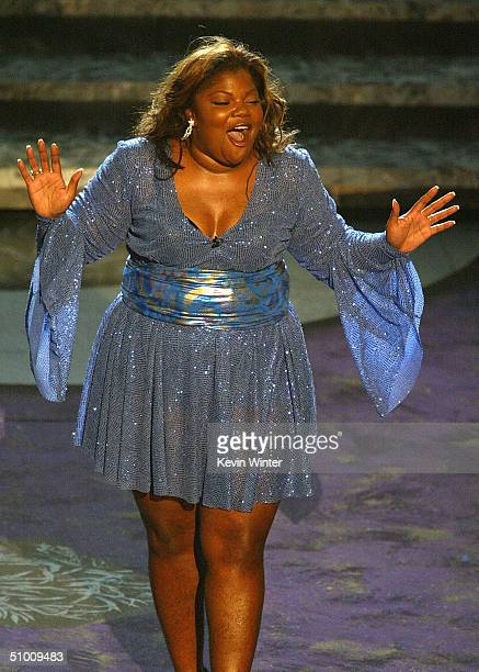 Host Mo'Nique dances on stage at the 2004 Black Entertainment Awards held at the Kodak Theatre on June 29 2004 in Hollywood California