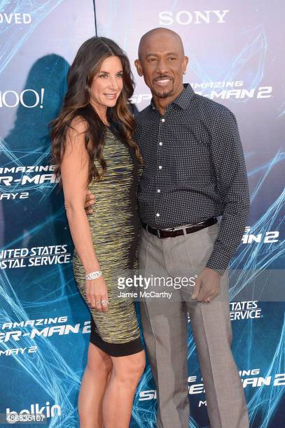 Host Montel Williams and wife Tara Fowler attend The Amazing SpiderMan 2 premiere at the Ziegfeld Theater on April 24 2014 in New York City