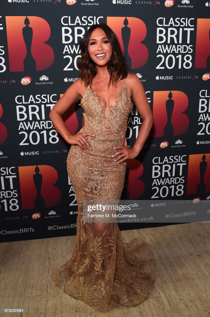 Host Myleene Klass attends the 2018 Classic BRIT Awards held at Royal Albert Hall on June 13, 2018 in London, England.