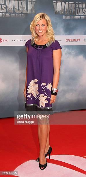 "Host Nadine Krueger attends the ""Wir sind das Volk"" premiere on September 24, 2008 in Berlin, Germany."