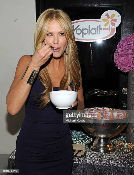 Host Nancy O'Dell attends the Yoplait Original Yogurt 'Calcium In Every Cup' party held at The Roosevelt Hotel on January 27 2011 in Hollywood...