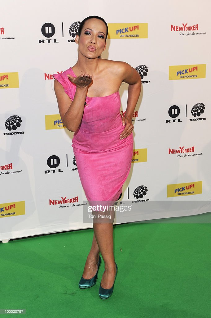 TV host Nandini Mitra arrives at 'The Dome 54' at Schleyerhalle on May 20, 2010 in Stuttgart, Germany.