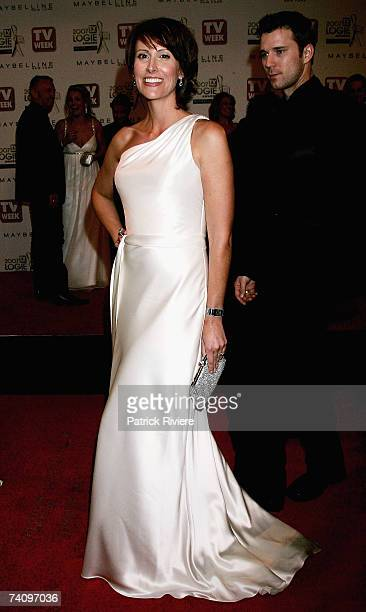 TV host Natalie Barr arrives at the 2007 TV Week Logie Awards at the Crown Casino on May 6 2007 in Melbourne Australia The annual television awards...