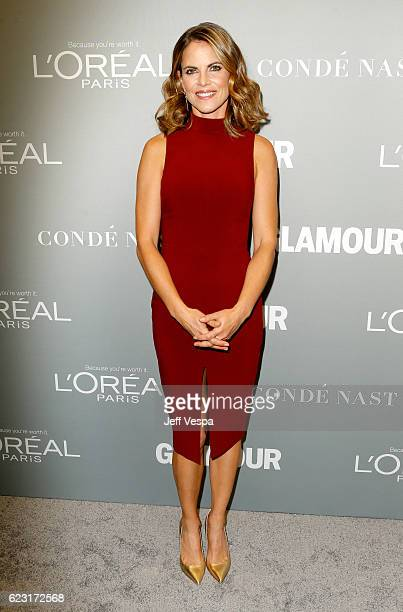 Host Natalie Morales poses backstage at Glamour Women Of The Year 2016 LIVE Summit at NeueHouse Hollywood on November 14 2016 in Los Angeles...