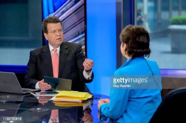 "Host Neil Cavuto as former Senior Advisor to the Barack Obama White House Valerie Jarrett visits ""Cavuto: Coast To Coast"" at the Fox Business Network..."