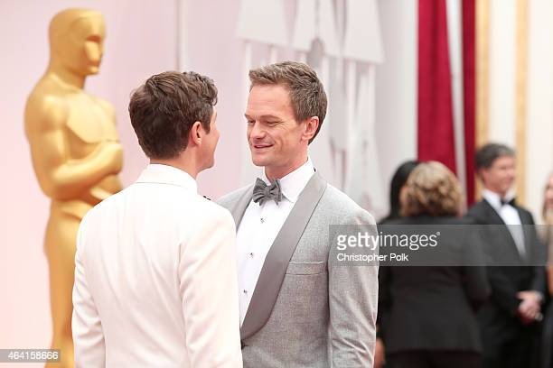 Host Neil Patrick Harris and actor David Burtka attend the 87th Annual Academy Awards at Hollywood & Highland Center on February 22, 2015 in...