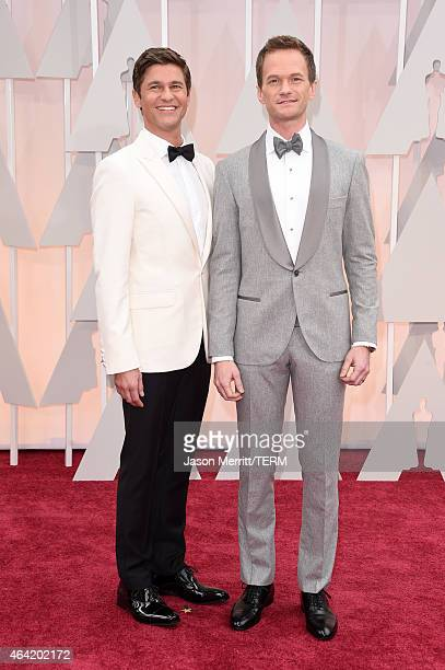 Host Neil Patrick Harris and actor David Burtka attend the 87th Annual Academy Awards at Hollywood Highland Center on February 22 2015 in Hollywood...