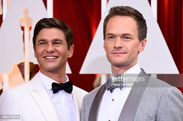 Host Neil Patrick Harris and David Burtka attend the 87th Annual Academy Awards at Hollywood Highland Center on February 22 2015 in Hollywood...