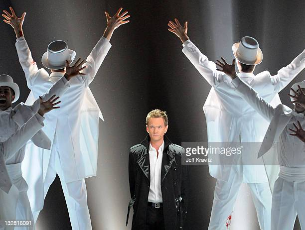 """Host Neil Patrick Harris onstage during Spike TV's """"2010 Video Game Awards"""" held at the LA Convention Center on December 11, 2010 in Los Angeles,..."""