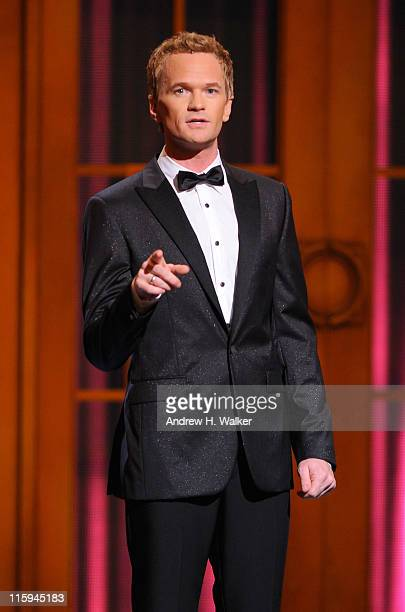 Host Neil Patrick Harris speaks on stage during the 65th Annual Tony Awards at the Beacon Theatre on June 12 2011 in New York City