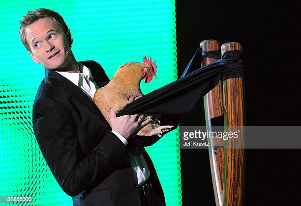 """Host Neil Patrick Harris speaks onstage during Spike TV's """"2010 Video Game Awards"""" held at the LA Convention Center on December 11, 2010 in Los..."""
