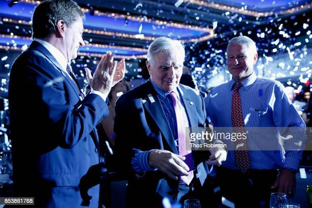 Host Nick Buoniconti and Nick Buoniconti III attend the 32nd Annual Great Sports Legends Dinner To Benefit The Miami Project/Buoniconti Fund To Cure...
