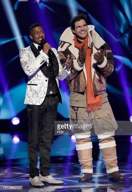 Host Nick Cannon and Barry Zito in the A Day In the Mask The Semi Finals / After the Mask A Day In the Mask The Semi Finals special twohour episode...