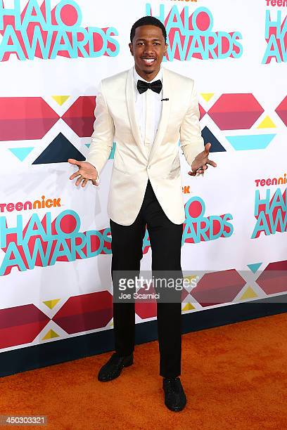 Host Nick Cannon arrives at the 2013 TeenNick HALO Awards at Hollywood Palladium on November 17 2013 in Hollywood California