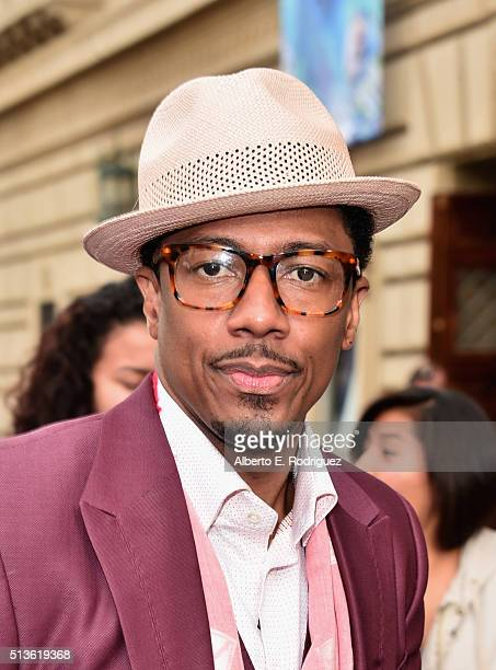 TV host Nick Cannon attends NBC's America's Got Talent Season 11 Kickoff at Pasadena Civic Auditorium on March 3 2016 in Pasadena California
