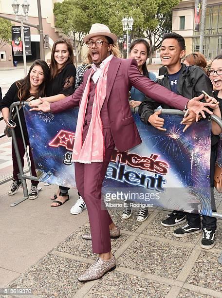 TV host Nick Cannon attends NBC's 'America's Got Talent' Season 11 Kickoff at Pasadena Civic Auditorium on March 3 2016 in Pasadena California