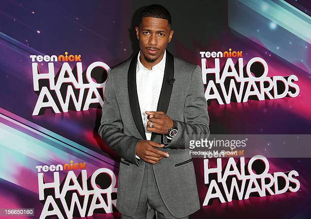 Host Nick Cannon attends the TeenNick HALO Awards at The Hollywood Palladium on November 17 2012 in Los Angeles California