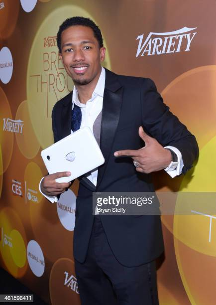 Host Nick Cannon attends the Variety Breakthrough of the Year Awards during the 2014 International CES at The Las Vegas Hotel Casino on January 9...