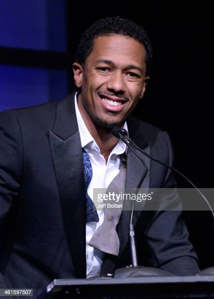 Host Nick Cannon speaks onstage at the Variety Breakthrough of the Year Awards during the 2014 International CES at The Las Vegas Hotel Casino on...