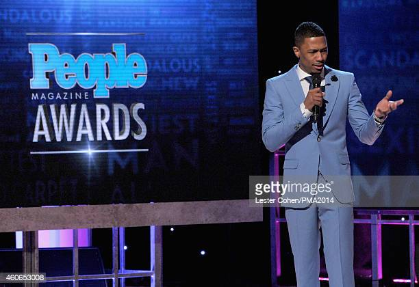 Host Nick Cannon speaks onstage during the PEOPLE Magazine Awards at The Beverly Hilton Hotel on December 18 2014 in Beverly Hills California