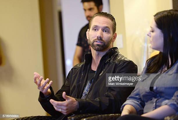 Host Nick Groff and ghost hunter Katrina Weidman attend ComicCon International 2016 Destination America's Supernatural press conference at Hilton...