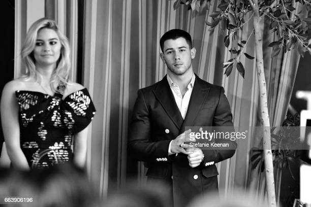 Host Nick Jonas attends the Daily Front Row's 3rd Annual Fashion Los Angeles Awards at Sunset Tower Hotel on April 2 2017 in West Hollywood California