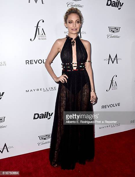 """Host Nicole Richie attends the Daily Front Row """"Fashion Los Angeles Awards"""" at Sunset Tower Hotel on March 20, 2016 in West Hollywood, California."""
