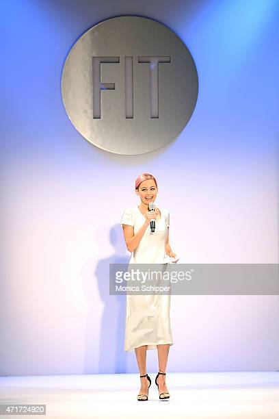 Host Nicole Richie speaks at 2015 FIT Future Of Fashion Runway Show at The Fashion Institute of Technology on April 30 2015 in New York City