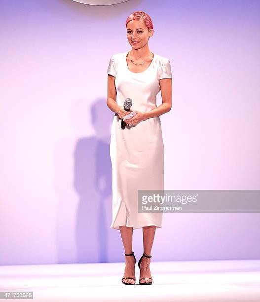 Host Nicole Richie speaks at The Fashion Institute of Technology's 2015 Future Of Fashion Runway Show on April 30 2015 in New York City