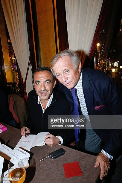 TV Host Nikos Aliagas and Prince Jean Poniatowski attend the 37th Writers Cocktail organized by Circle Maxim's Business Club in Fairs Fouquet's on...