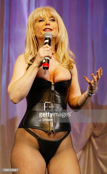 Host Nina Hartley at the Exotic Erotic Ball during The Exotic Erotic Ball 2002 in San Francisco at Cow Palace in San Francisco California United...