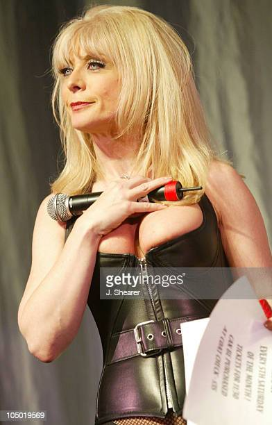 Host Nina Hartley during The Exotic Erotic Ball 2002 in San Francisco at Cow Palace in San Francisco California United States