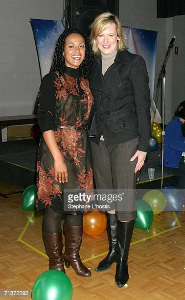 TV host Nuala Hafner and Mellisa Doyle attend the Magical World of Disney On Ice opening night at the Sydney Entertainment Centre July 5 2006 in...