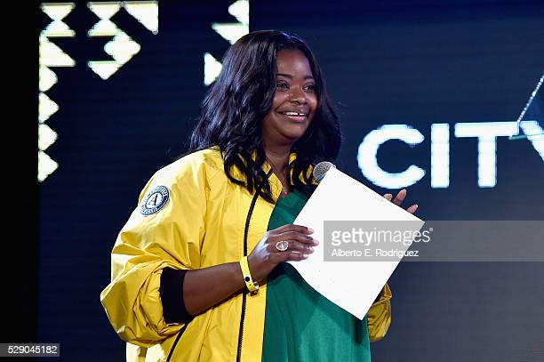 Host Octavia Spencer speaks onstage during City Year Los Angeles Spring Break Event at Sony Studios on May 7 2016 in Los Angeles California