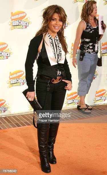Host of American Idol Paula Abdul arrives at the 20th Annual Kid's Choice Awards held at the UCLA Pauley Pavilion on March 31 2007 in Westwood...