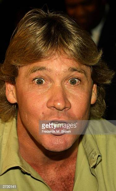 """Host of Animal Planet's series """"Crocodile Hunter"""" Steve Irwin attends the Twentieth Century Fox Los Angeles premiere of the film """"Master and..."""