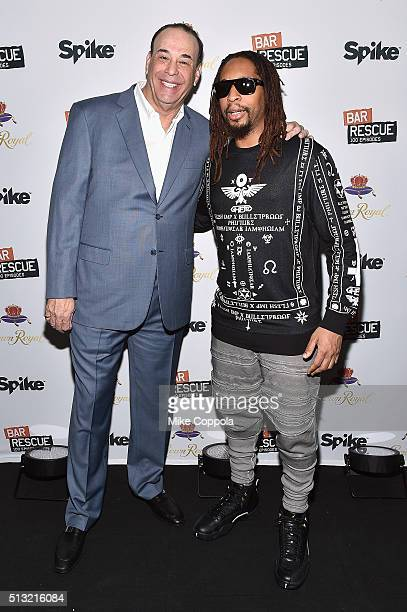 Host of Bar Rescue Jon Taffer and rapper Lil Jon attend Spike's Bar Rescue 100th Episode Celebration with Jon Taffer at STK Midtown on March 1 2016...