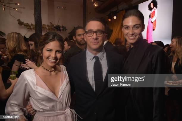 Host of E's The Rundown Erin Lim President E Entertainment Adam Stotsky and guest attend the NYFW Kickoff Party A Celebration Of Personal Style...